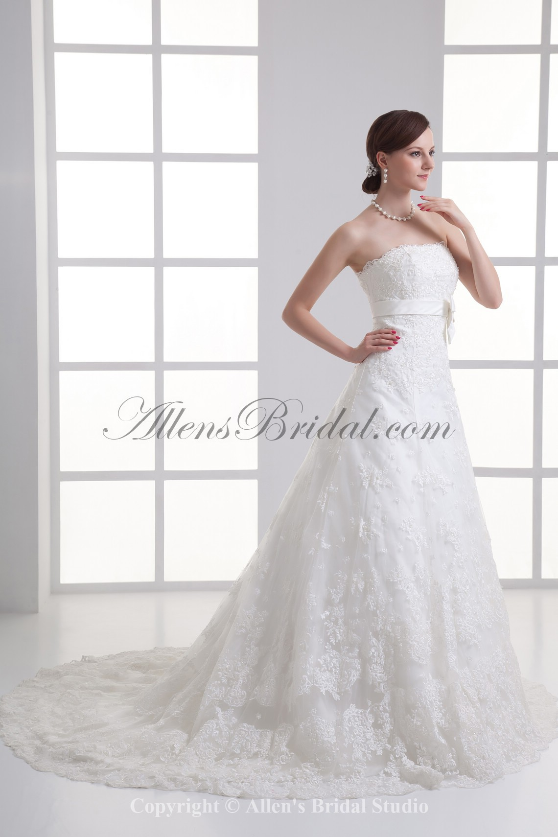 /1067-8557/satin-and-lace-strapless-a-line-sweep-train-sash-wedding-dress.jpg
