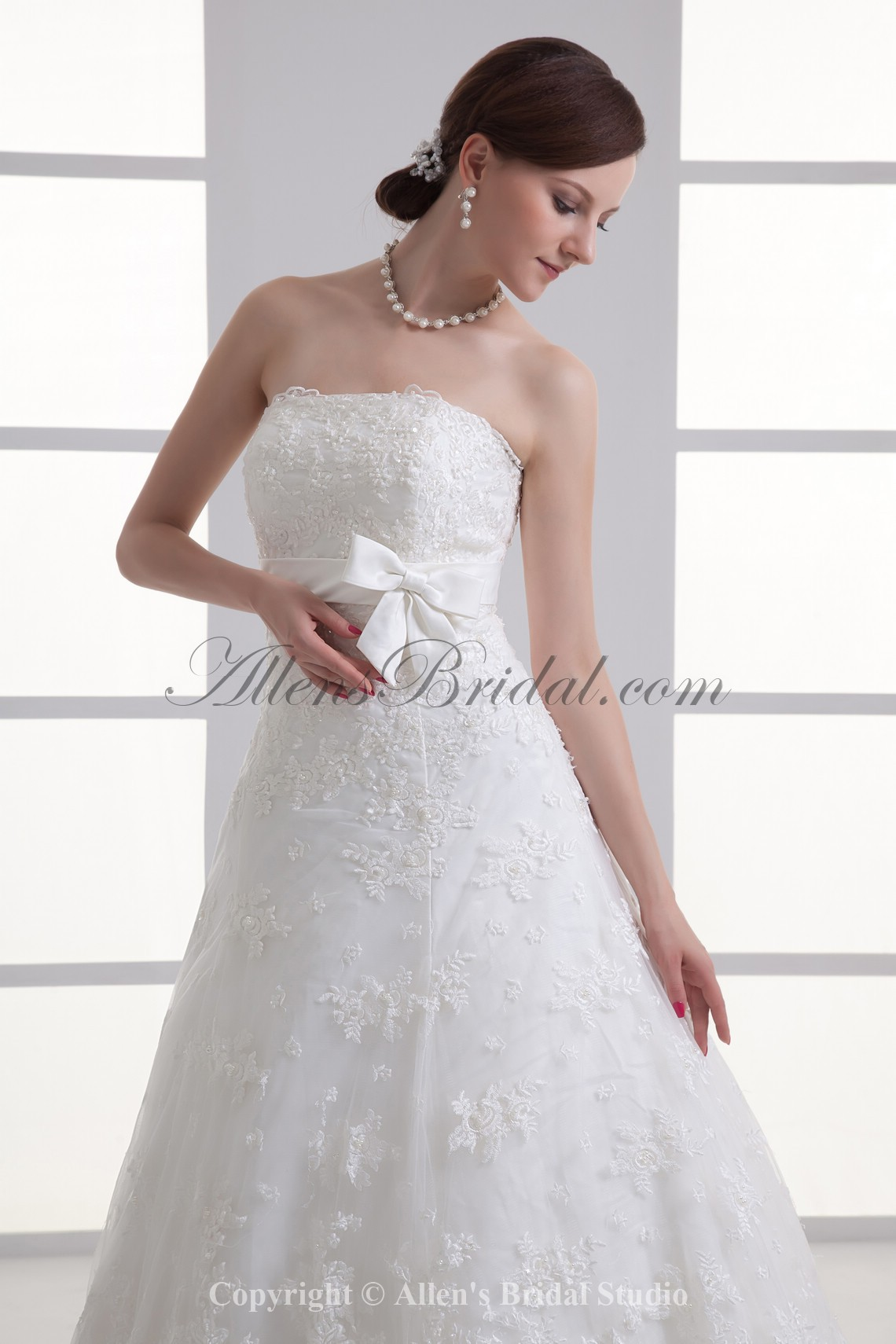 /1067-8558/satin-and-lace-strapless-a-line-sweep-train-sash-wedding-dress.jpg