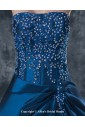 Taffeta Strapless Floor Length Ball Gown Mother Of The Bride Dress with Embroidered
