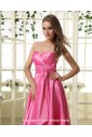 Taffeta Sweetheart Knee-Length A-line Bridesmaid Dress with Ruffle
