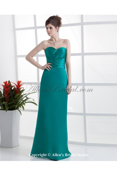 Charmeuse Sweetheart Floor Length A-line Bridesmaid Dress with Ruched