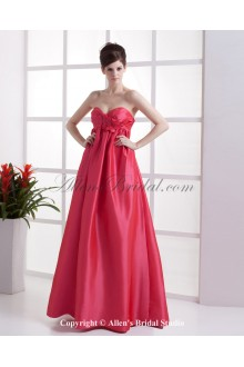 Taffeta Sweetheart Floor Length A-line Bridesmaid Dress with Embroidered