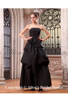 Taffeta Strapless Ankle-Length A-line Bridesmaid Dress with Sash