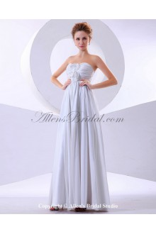 Chiffon Strapless Floor Length Empire Bridesmaid Dress