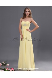 Chiffon Sweetheart Floor Length Empire Line Bridesmaid Dress