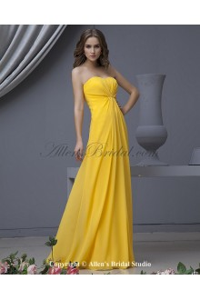 Chiffon Sweetheart Floor Length A-line Bridesmaid Dress with Ruffle