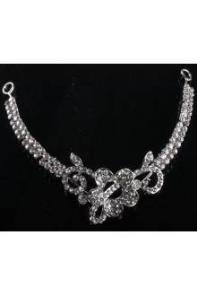 Beauitful Wedding Jewelry Set Necklace,Earrings and Headpiece with Rhinestones