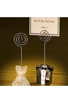 Classic Bride and Groom Placecard Holder (Set of 2)