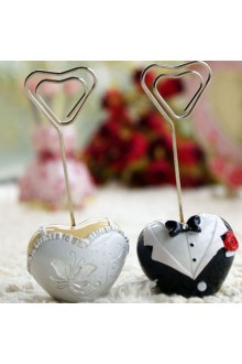 Groom and Bride Placecard Holder (Set of 2)