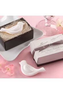Lovely Dove Scented Soap Wedding Favor