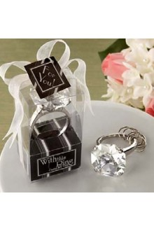 Personalized Diamond Design Keyring Favor (Three Color Avaliable)