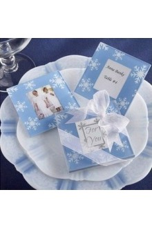 Snowflake Photo Coasters - Set Of 2