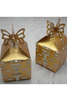 Double Happiness Cut–out Favor Box With Butterfly Top (Set of 12)