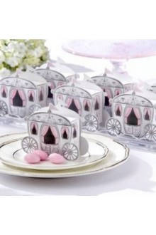 """Enchanted Carriage"" Fairytale Themed Favor Box (Set of 12)"