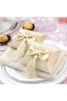 Classic Wedding Favor Box With Tassels (Set of 12)