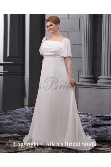 Fashionable Beading Sequins Court Train Plus Size Wedding Dress