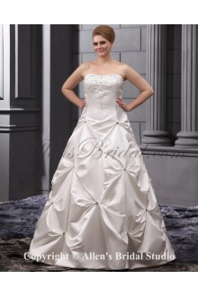 Beautiful Embroidered Court Train Bridal Ball Gown Plus Size Wedding Dress