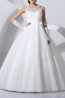 Satin Strapless Cathedral Train Mermaid Gown with Crystal