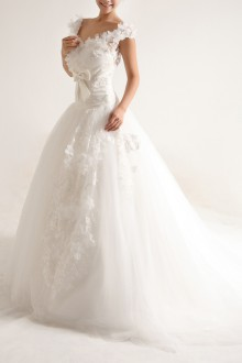Organza Sweetheart Mermaid Gown with Pearls