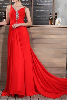 Satin High Collar Neckline Mermaid Gown with Sequins