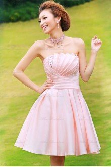 Satin Scallop Dress with Diamond