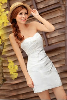 Satin Sweetheart Dress with Diamond