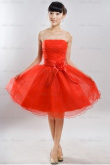 Satin Strapless Dress with
