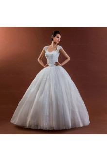 Satin,Lace,Tulle Sweetheart Ball Gown Dress with Embroidery