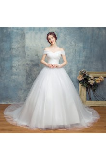 Ball Gown Off-the-shoulder Wedding Dress