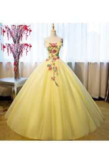 Ball Gown Off-the-shoulder Quinceanera Dress with Flower(s)