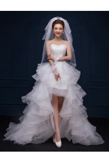 Ball Gown Strapless Lace Wedding Dress