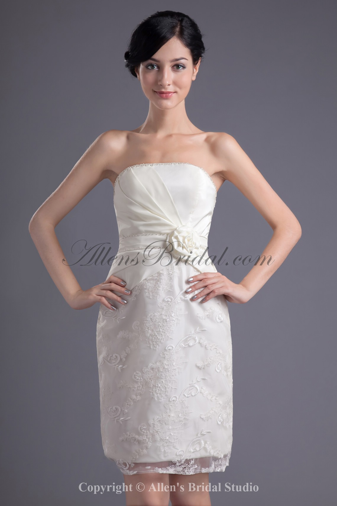 /43-340/satin-and-lace-strapless-neckline-sheath-short-hand-made-flower-cocktail-dress.jpg