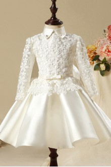 A-line Long Sleeve Flower Girl Dress
