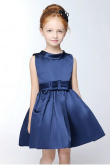 A-line High Neck Flower Girl Dress