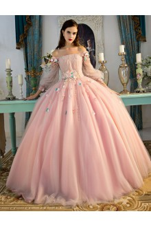 Ball Gown Off-the-shoulder Prom / Formal Evening / Quinceanera / Sweet 18 Dress with Beading