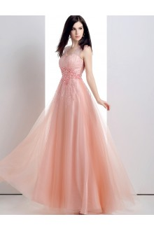 A-line V-neck Prom / Formal Evening Dress with Beading