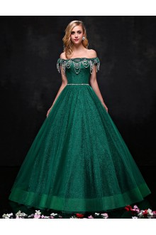 A-line Off-the-shoulder Prom / Formal Evening Dress with Beading