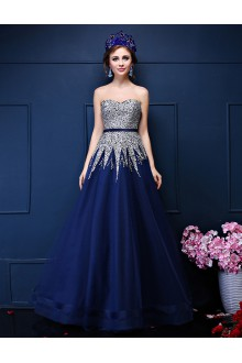 A-line Strapless Prom / Formal Evening Dress with Beading