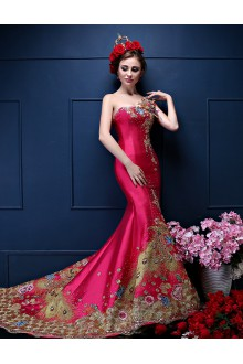Trumpet / Mermaid One Shoulder Prom / Formal Evening Dress with Embroidery