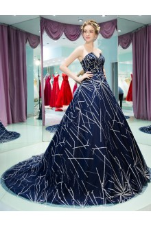 Ball Gown V-neck Prom / Formal Evening Dress
