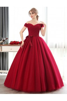 Ball Gown Off-the-shoulder Prom / Formal Evening Dress with