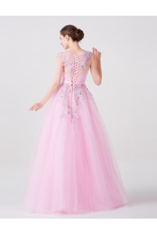 A-line V-neck Prom / Formal Evening Dress with Embroidery
