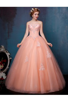 Ball Gown Strapless Prom / Formal Evening / Quinceanera / Sweet 18 Dress with Beading