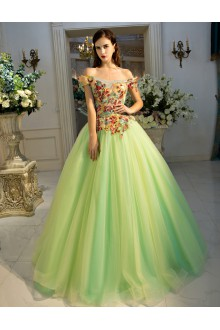 A-line Off-the-shoulder Prom / Formal Evening / Quinceanera / Sweet 18 Dress
