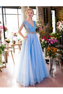 Sheath / Column V-neck Prom / Formal Evening Dress with Embroidery