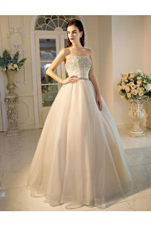 Ball Gown Strapless Tulle Prom / Formal Evening Dress with Sequins