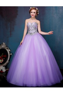 Ball Gown Strapless Prom / Formal Evening Dress with Crystal