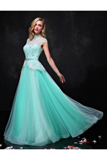 A-line V-neck Prom / Formal Evening Dress with Crystal