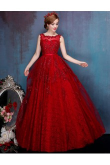 A-line Scoop Prom / Formal Evening Dress with Beading
