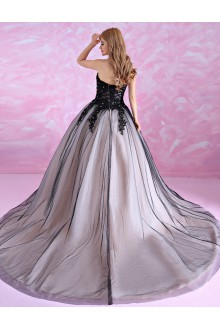 Ball Gown Strapless Prom / Formal Evening Dress with Beading